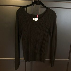 So brand sparkly black v neck sweater